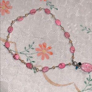 Jewelry - Beautiful Rhodonite and freshwater pearls